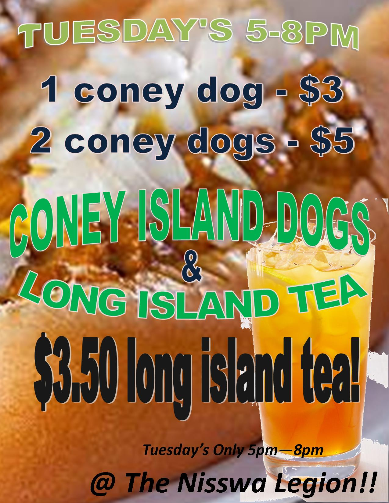 coney island dogs and long island tea night brainerd mn lakes calendar of events. Black Bedroom Furniture Sets. Home Design Ideas